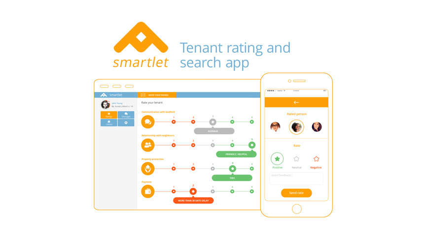 Smartlet, Budapest (H) - Tenant rating and search platform for faster and comfortable tenant screening with social media based community