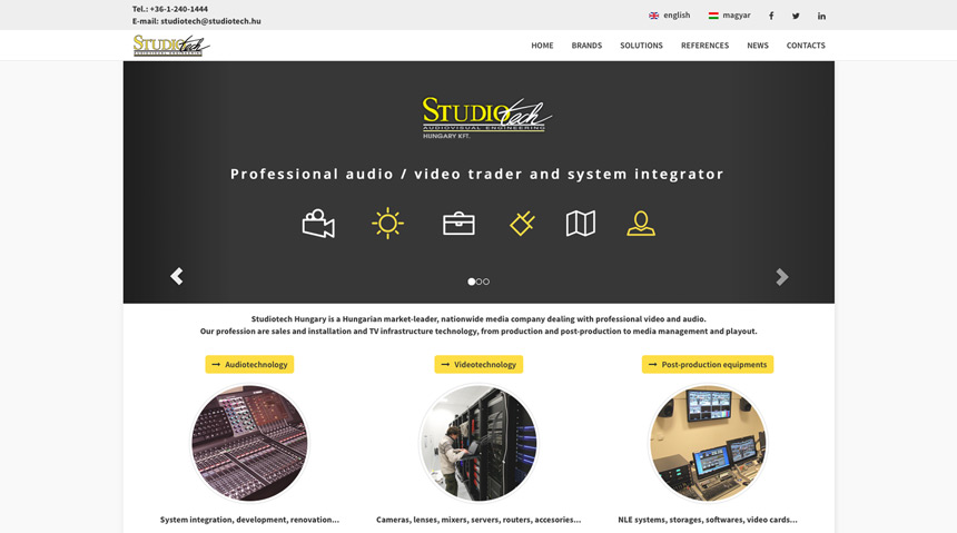 Studiotech, Budapest (H) - Professional audiovisual system integrator