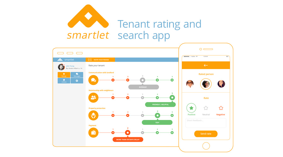 Smartlet - Tenant rating and search platform for faster and comfortable tenant screening with social media based community